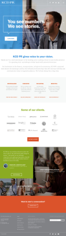 KCD PR's homepage (Graphic: Business Wire)