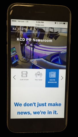 KCDPR.com is optimized for mobile browsing (Photo: Business Wire)