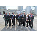 Renewable Energy Group celebrated the completion of $34.5 million in upgrades to its Danville, IL biorefinery. Pictured (L to R)---Gary Haer, REG Vice President, Sales & Marketing; Cong. John Shimkus (R-IL); Brad Albin, Vice President, Manufacturing; Mike Jackson, REG Board Member; Chad Stone, Chief Financial Officer; Daniel Oh, President and CEO; Danville Mayor Scott Eisenhauer; Natalie Merrill, REG Vice President & Chief of Staff; Paul Calamari, REG Danville Plant Manager; and Bruce Lutes, REG Danville General Manager. (Photo: Business Wire)