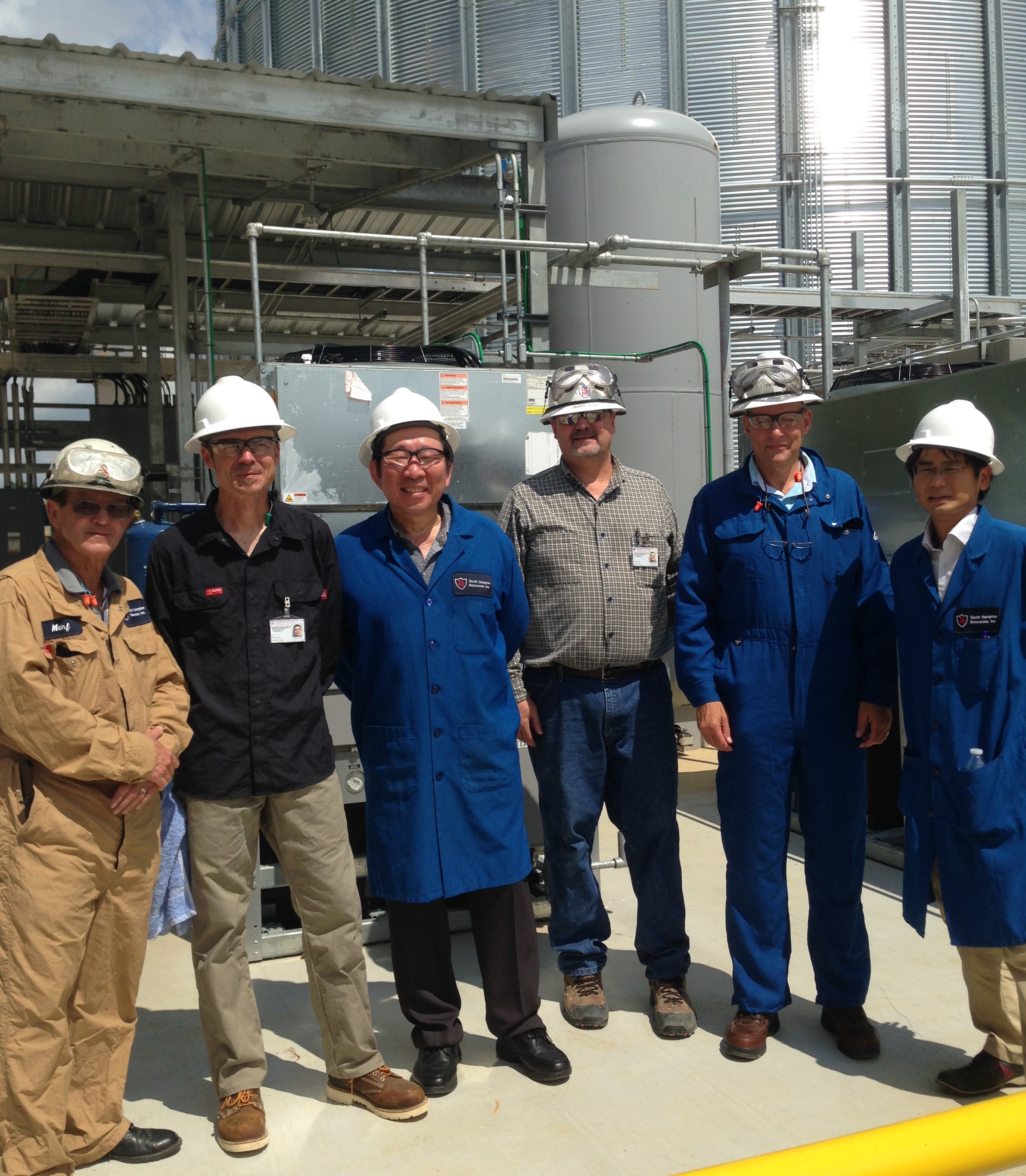 Suntory, IFPEN and Anellotech leadership and engineering teams; TCat-8 Commissioning (SHR, Silsbee, Texas) (Photo: Business Wire)