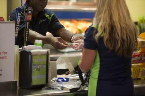 The First Data and Bypass solution at work at CenturyLink Field. (Photo: Business Wire)