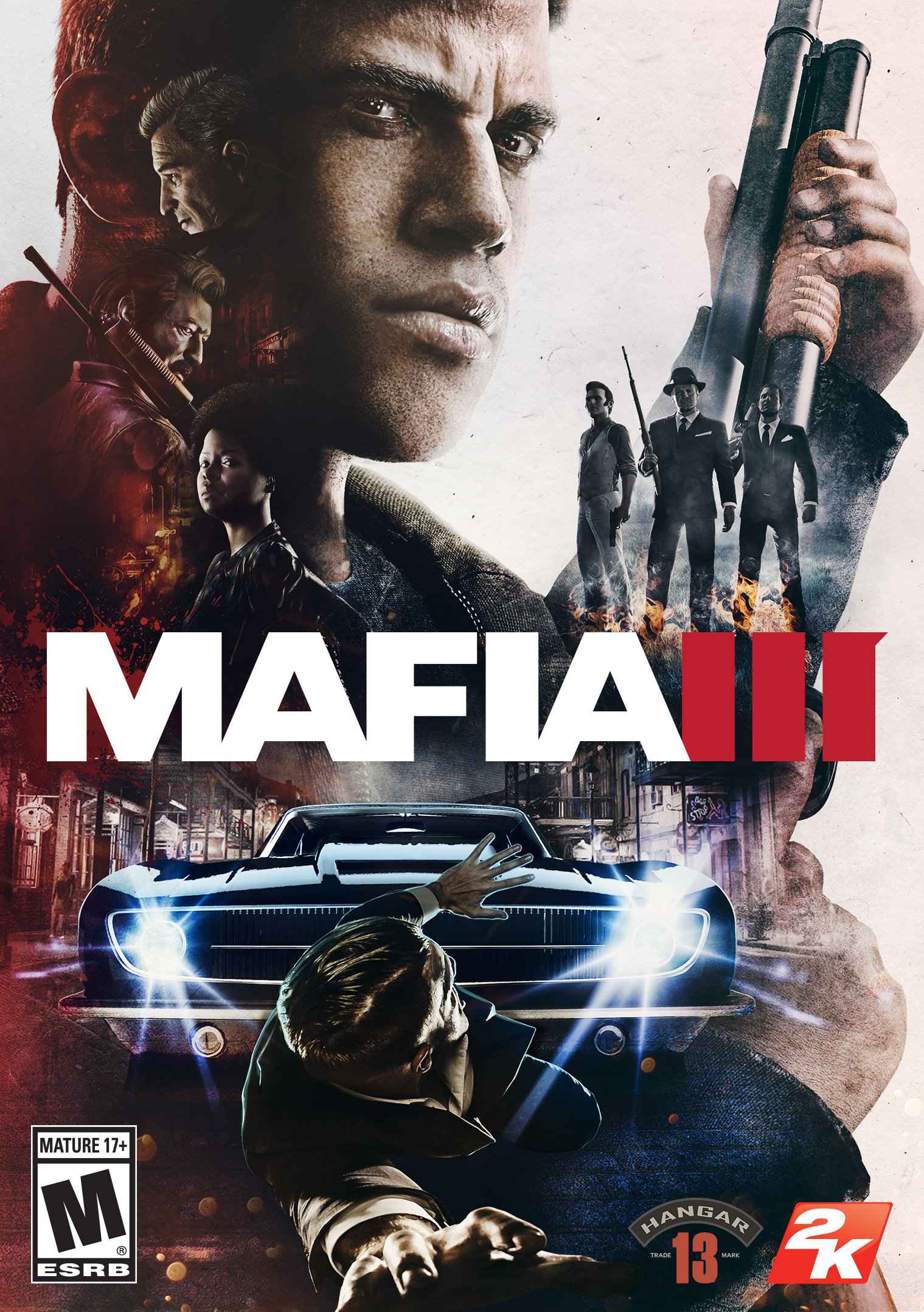 2K and Hangar 13 today announced that Mafia III, the thrilling organized crime drama set in the immersive open world of 1968 New Bordeaux, is now available for PlayStation®4 computer entertainment system, Xbox One and Windows PC. (Graphic: Business Wire)