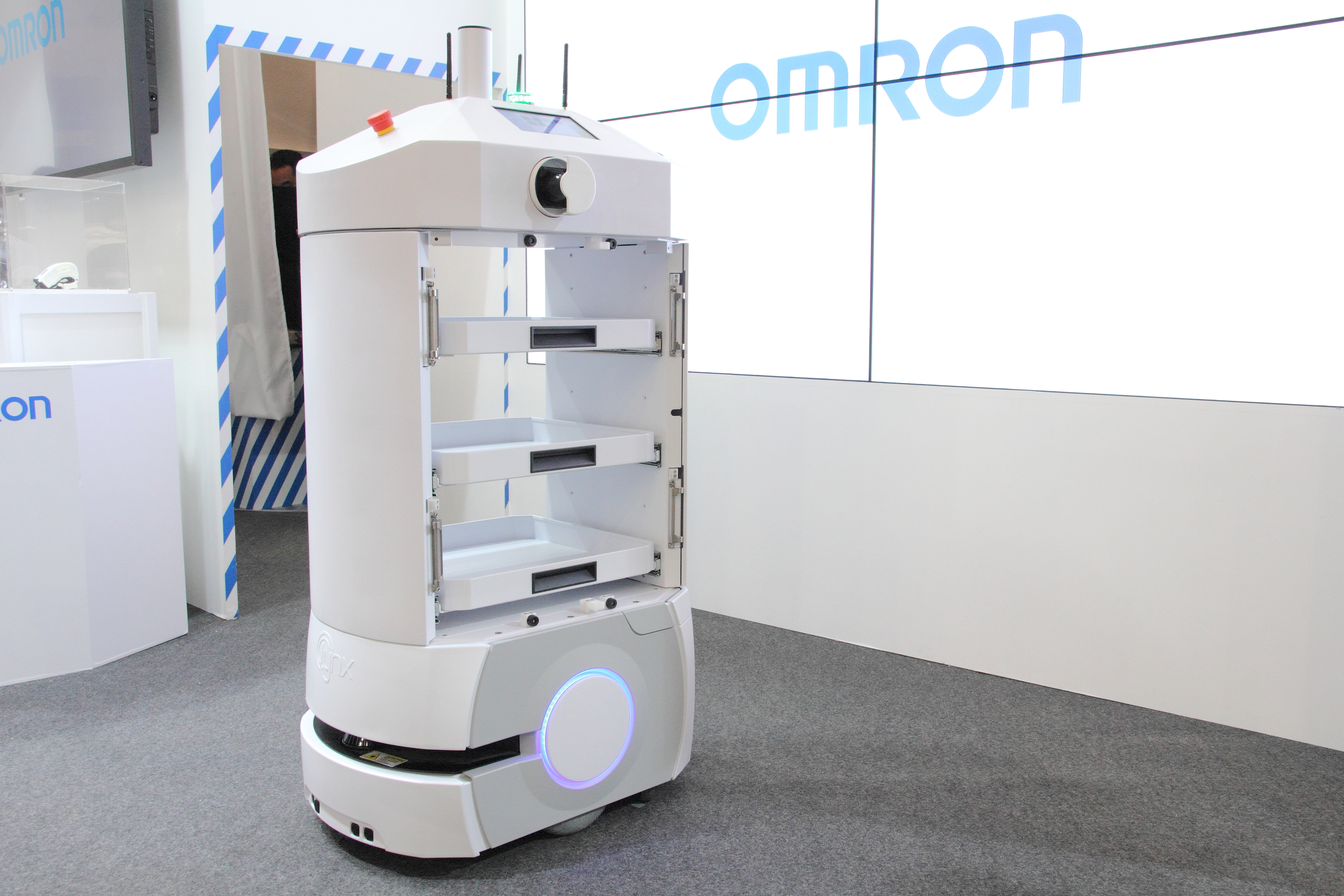 Omron exhibited the indoor Mobile Robot LD Platform developed as a step towards human-machine harmony in manufacturing. (Photo: Business Wire)