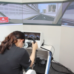 Omron demonstrated their driver concentration-sensing technology that brings us closer to a safer and collision-free society powered by automated driving. (Photo: Business Wire)