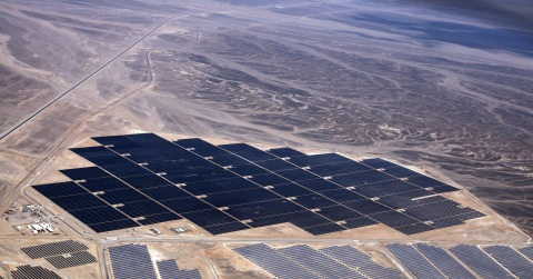 The 52.5 MW Shams Ma'an Solar Power Plant in the Hashemite Kingdom of Jordan. Owned by a consortium  ...