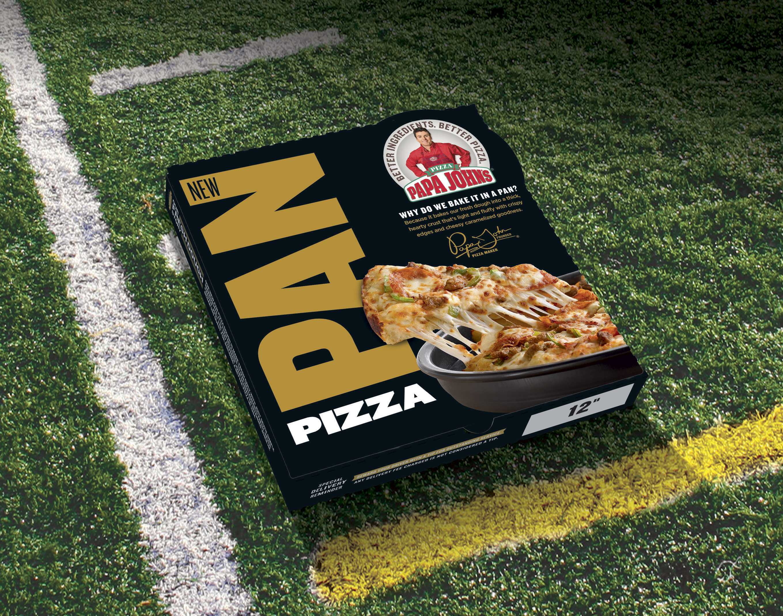 Papa John's Pan Pizza comes in a sleek, new box available for a limited time only. (Photo: Business Wire)