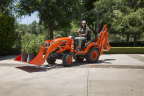 Kubota introduces its new BX80-Series with four models including the BX23S, which leads the sub-compact tractor class as a standard-equipped loader-backhoe unit. (Photo: Business Wire)