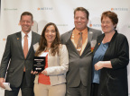 Todd and Danielle Snopkowski accept the Citizens Bank 2016 Good Citizens award, presented by Citizens Bank Senior Vice President Joe Wadlinger and Interise CEO Jean Horstman (Photo: Business Wire)