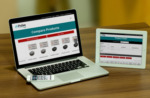Pulse Electronics Power BU Mobile Responsive Website (Photo: Business Wire)