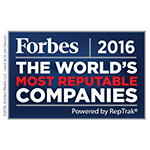 Bacardi Limited hoort opnieuw bij de meest bekende bedrijven ter wereld volgens de ranglijst Global RepTrak® 100, die jaarlijks door het Reputation Institute wordt samengesteld en in Forbes verschijnt. Met de 92ste plaats staat familiebedrijf Bacardi al drie jaar op rij in de wereldranglijst van de meest bekende bedrijven ter wereld. (Grafisch:Business Wire)