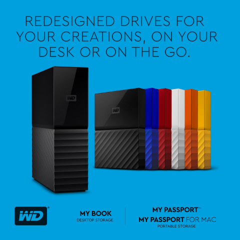 Western Digital Unveils New Design Language with Redesigned Lines of Iconic My Passport and My Book Hard Drives (Graphic: Business Wire)