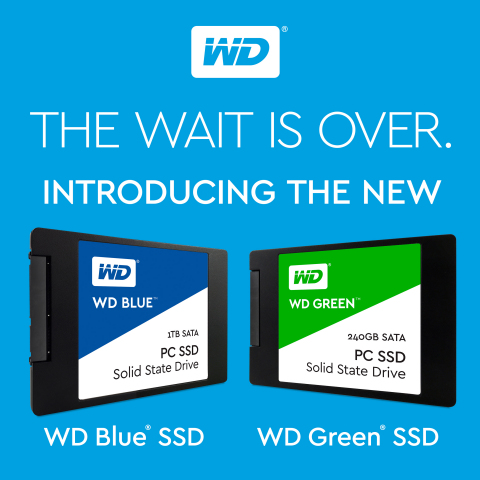 Western Digital Introduces WD Blue and WD Green Solid State Drives. (Graphic: Business Wire)