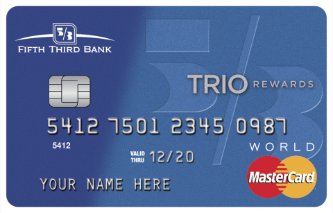 Fifth third bank launches new consumer credit cards business wire fifth thirds new trio card creates easy ways to earn cash back rewards faster reheart Image collections