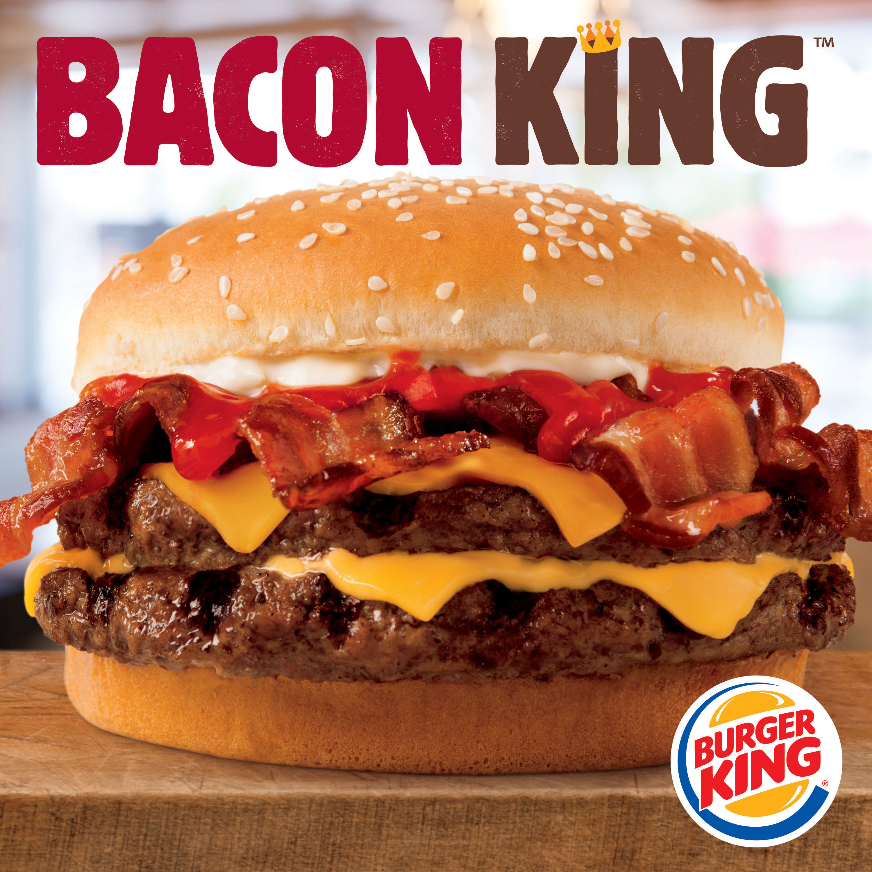 BURGER KING(R) RESTAURANTS INTRODUCE THE BIG AND HEARTY BACON KING(TM) SANDWICH (Photo: Business Wire)