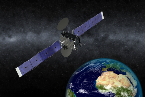 Artist's concept of the EUTELSAT 5 West B satellite Credit: Orbital ATK (Photo: Business Wire)