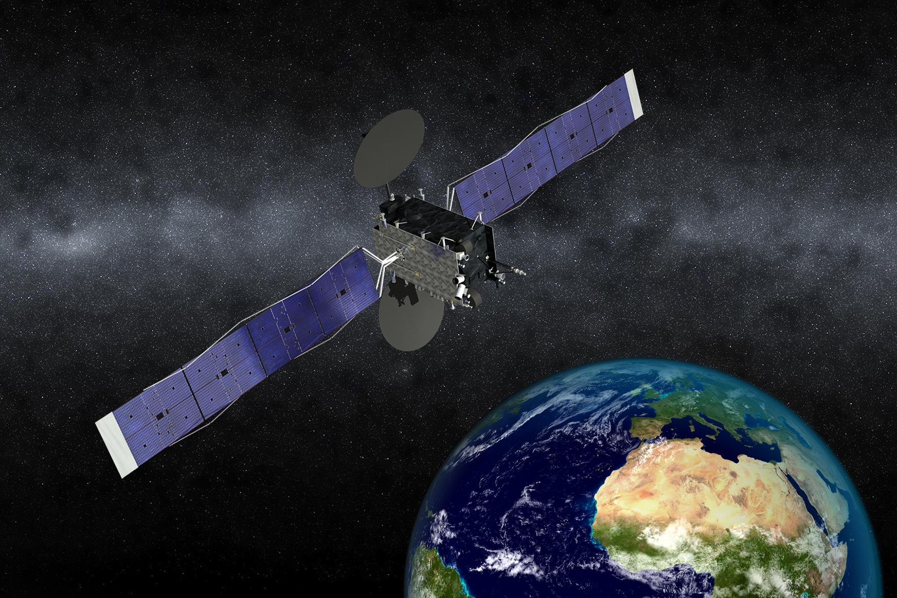Artist's concept of the EUTELSAT 5 West B satellite Credit: Orbital ATK (Photo: Business Wire)