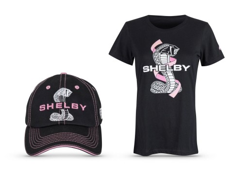 For every exclusive Shelby breast cancer awareness t-shirt or hat purchased, Carroll Shelby's Store will donate $5 to the Foundation. If purchased together, $10 will go to the charity. (Photo: Business Wire)