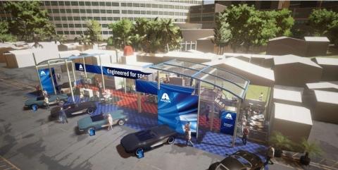 Axalta Coating Systems outdoor booth rendering. (Photo: Axalta)