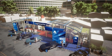 Axalta Coating Systems outdoor booth rendering. (Photo: Axalta)