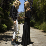 Rachel Zoe on set with UGG in LA styling the Abree Mini in Grigio. (Photo: Business Wire)
