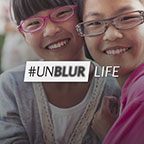In honor of World Sight Day, OneSight launches their #UNBLUR campaign to raise advocacy and awareness for the 1 in 7 people across the world who lack access to an eye exam or pair of glasses.