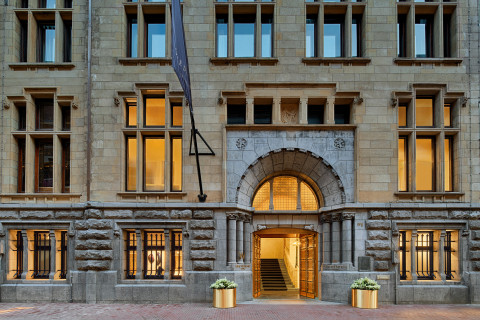 W Amsterdam BANK building entrance (Photo: Business Wire)