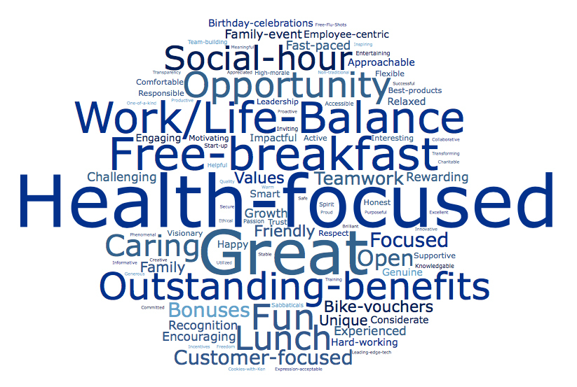 Elevate employees provided so many reasons why they think Elevate is a great place to work on the Great Place to Work survey. Here are a few of those reasons. (Graphic: Business Wire)