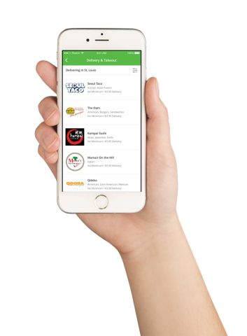 Groupon To Go is now offering delivery for more than 40 St. Louis restaurants, including Basil Spice Thai, Qdoba, Mama's on the Hill, Las Palmas and Kampai Sushi. (Photo: Business Wire)