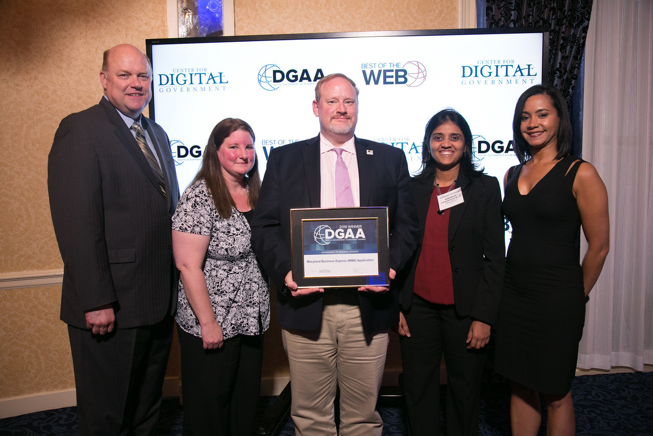Michael Higgs, deputy director for the state department of assessments & taxation, accepted the Maryland Business Express DGAA award in the Government-to-Business category. (Photo: Business Wire)