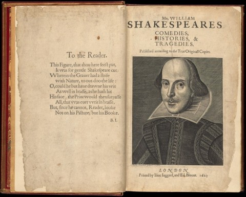 William Shakespeare's First Folio, 1623. Boston Public Library, Rare Books Department. (Photo: Boston Public Library)