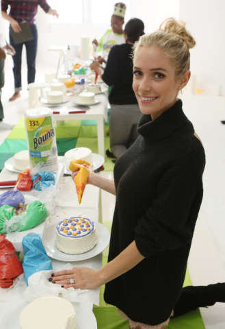 """Mother, designer and New York Times Best-selling author, Kristin Cavallari, shares some of her favorite tips and tricks for birthday parties, playdates and kid-friendly snacks at Bounty's Memorable First Moments """"First Birthday Bash"""" event on Thursday, October 13, 2016 in New York. (Photo by Stuart Ramson/Invision for Bounty/AP Images)"""