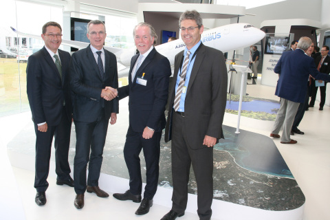 From left to right: Amos Liebermann, Director of Aerospace Strategic Accounts, EMEA, Stratasys; Oliv ...