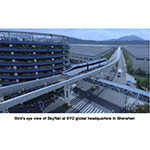 Bird's eye view of SkyRail at BYD global headquarters in Shenzhen (Photo: Business Wire)