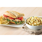 Corner Bakery Cafe's new Choose Any Two allows guests to create their own perfect lunch or dinner by selecting two menu items, like the Chicken Pesto Sandwich and Pesto Cavatappi. (Photo: Business Wire)