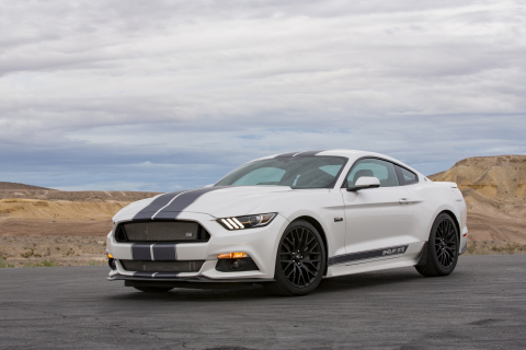 Shelby American has teamed up with Gaudin Ford to auction the first production Shelby GTE (Lot #3003) at Barrett-Jackson's 9th Annual Las Vegas Auction on Saturday, October 15, 2016 at approximately 5:30 p.m. PDT. (Photo: Business Wire)