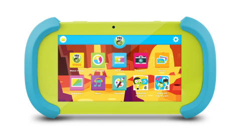 PBS KIDS, a leader in connected learning for children, today announced the launch of its first tablet, the Playtime Pad, which is produced by Ematic. (Photo: Business Wire)