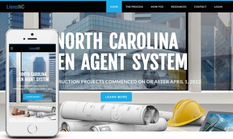 Newly redesigned LiensNC website features enriched design and multiple enhancements. (Graphic: Business Wire)