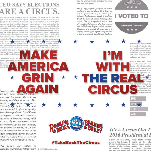 Ringling Bros. and Barnum & Bailey declares The Circus Wants The Circus Back. (Graphic: Business Wire)
