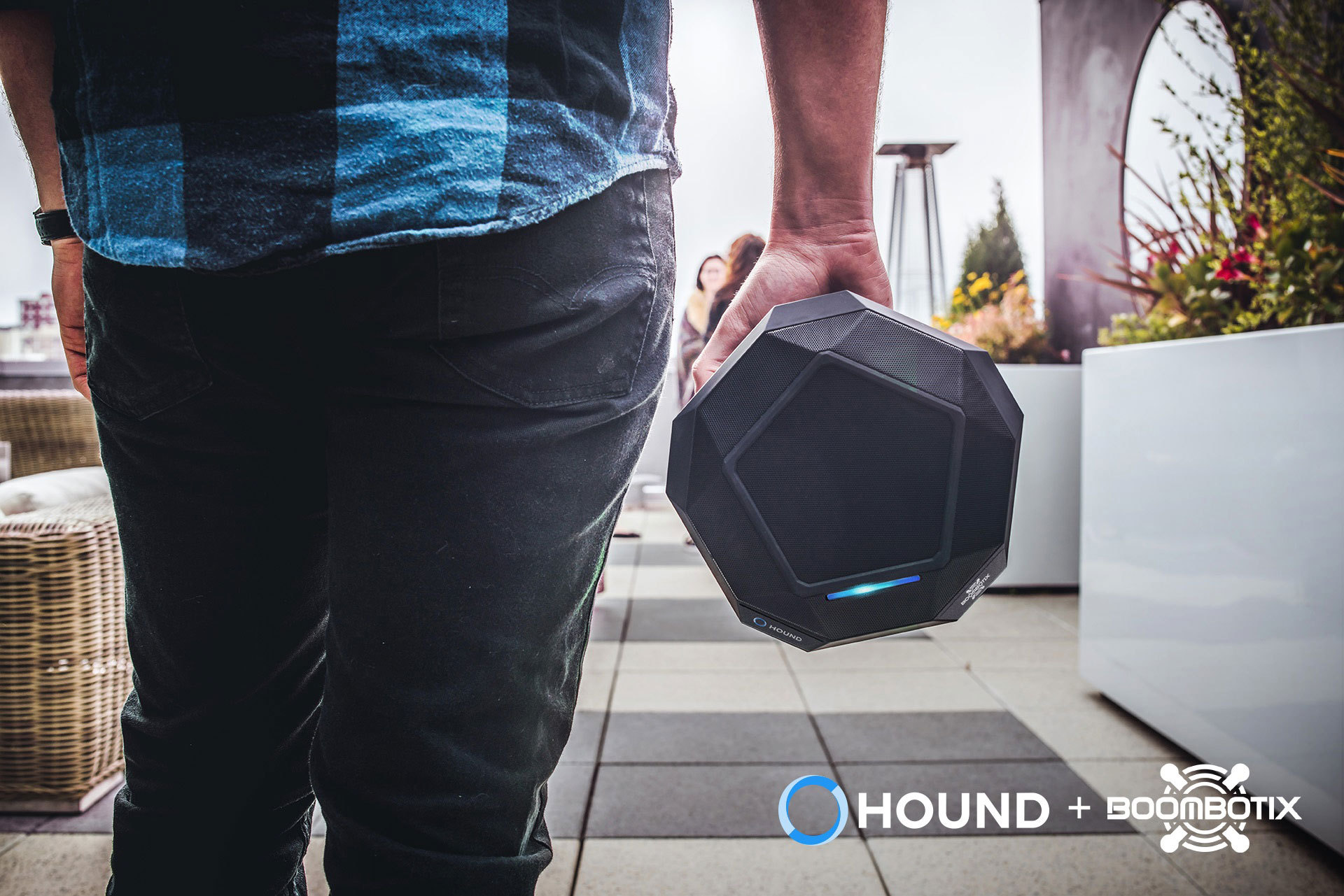 Experience big sound in a portable, smart speaker with Hound voice interaction. (Photo: Business Wire)