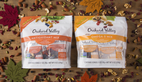 Orchard Valley Harvest Announces New Antioxidant and Omega-3 Wellness Mix Multi Packs (Photo: Business Wire)