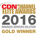 "CompuCom Canada recognized as the Gold winner in CDN's ""Best Managed Service Solution"" category (Graphic: Business Wire)"