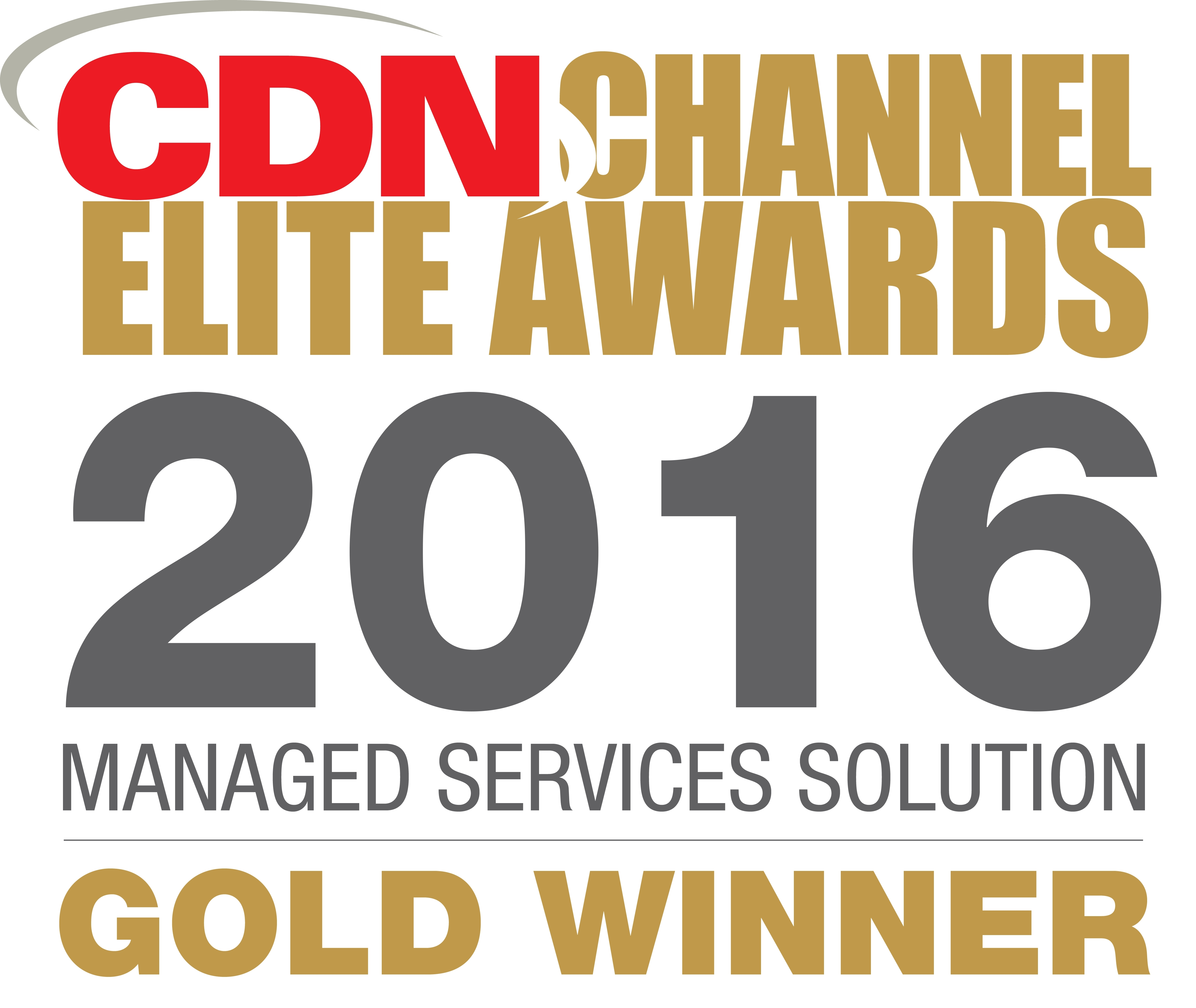 """CompuCom Canada recognized as the Gold winner in CDN's """"Best Managed Service Solution"""" category (Graphic: Business Wire)"""