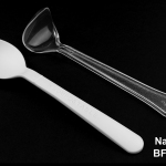 Figure 4 shows the substantial deformation on handle and bowl of the PS spoon, right, compared to the pristine shape of the Ingeo-based spoon, left, after both were compressed in hot water. (Photo: Business Wire)