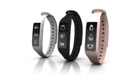 Parent + Baby SmartBand, a first-of-its kind wearable device created specifically for parents and po ...
