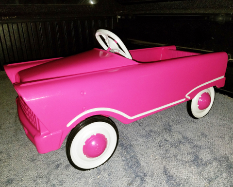 Axalta Coating Systems Debuts New Alesta Illusion Powder Coatings During Auction of Restored Pedal Car. (Photo: Axalta)