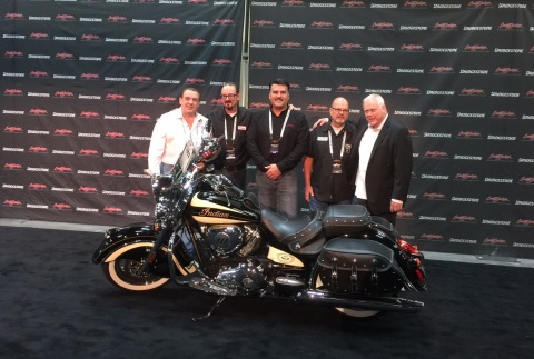 From left to right: Vincent Amato (winning bidder), Brian Klock (Klock Werks),