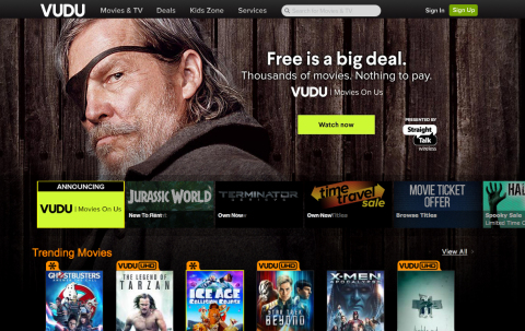 Vudu Movies on Us on Web (Photo: Business Wire)