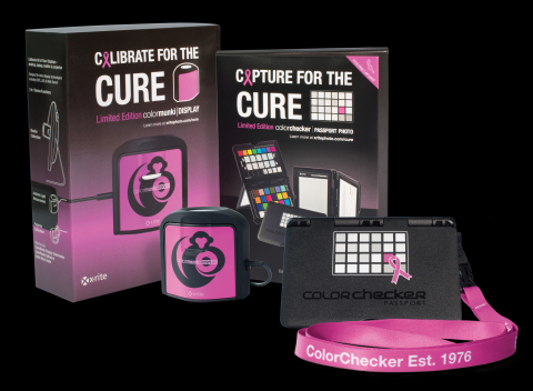 CAPTURE & CALIBRATE FOR THE CURE @PhotoPlusExpo OCT 20-22 @JAVITS CENTER/NYC: X-Rite supports Breast Cancer Awareness by donating 20% of sales from the PINK ColorMunki Display & PINK ColorChecker Passport Photo limited collector-editions to Breast Cancer Research Foundation (BCRF). BCRF is the highest rated breast cancer organization in the US. The PINK ribbon is imprinted on the X-Rite ColorChecker Passport case & PINK Lanyard. The ColorMunki puck features the Cure's signature PINK, a symbol recognized around the globe to find the CURE for breast cancer. Visit X-Rite i1Filmmaker 'shoot to edit' daily demos at Atomos booth-137 & B&H PhotoVideo booth-455. Designed for filmmakers, cinematographers, videographers & Photographers-for cost and time effective color editing tools.