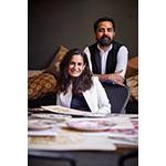 Sabyasachi Mukherjee, Fashion Designer and Monica Bhargava, EVP of Design + Product Development at Pottery Barn (Photo: Business Wire)