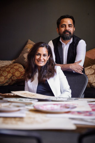Sabyasachi Mukherjee, Fashion Designer and Monica Bhargava, EVP of Design + Product Development at Pottery Barn (Photo: Business Wire)